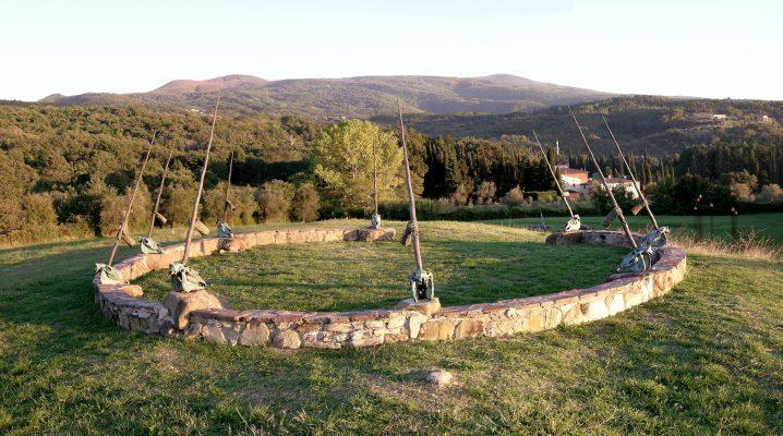 Daniel Spoerri im Skulpturengarten Seggiano, Italien 3-4