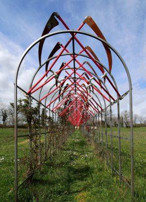 Daniel Spoerri Installation im Skulpturenpark Italien 90