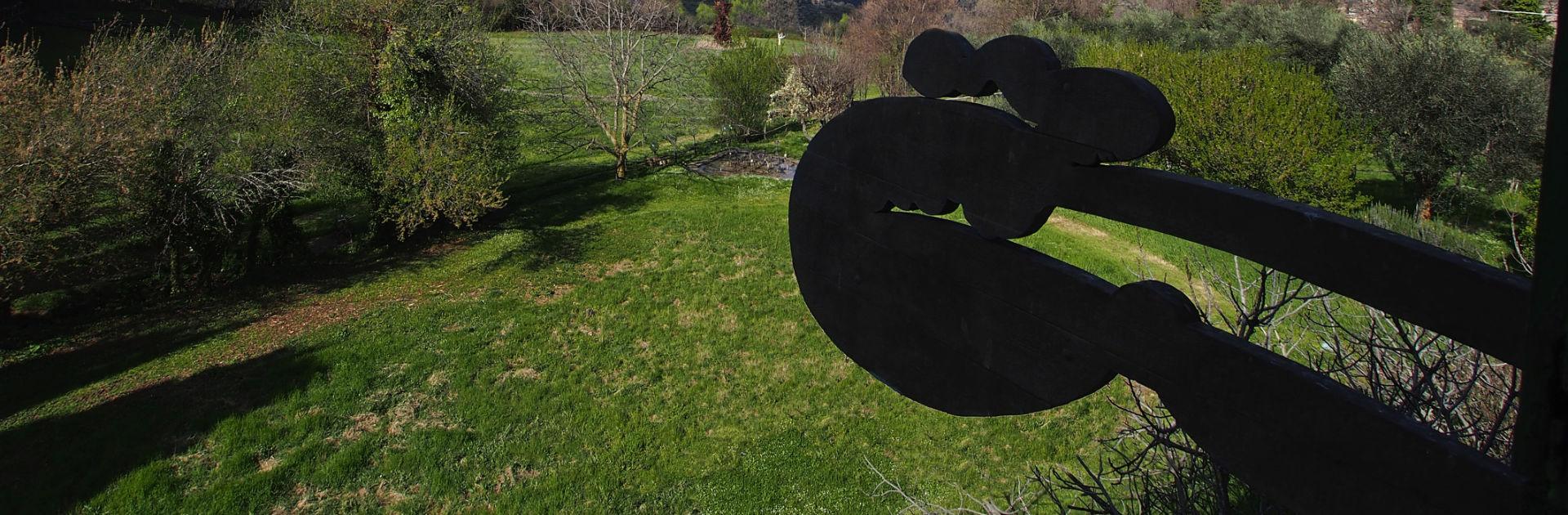 Künstler Alfonso Hüppi im Giardino di Daniel Spoerri