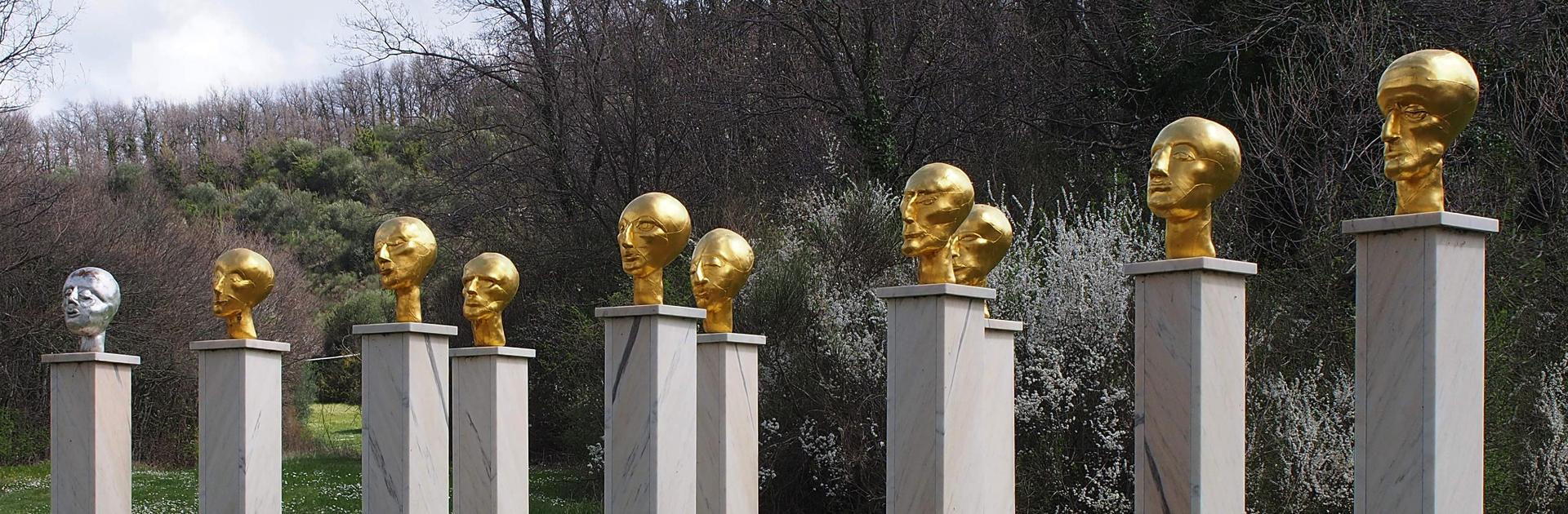 Artist Eva Aeppli Giardino di Daniel Spoerri Italy