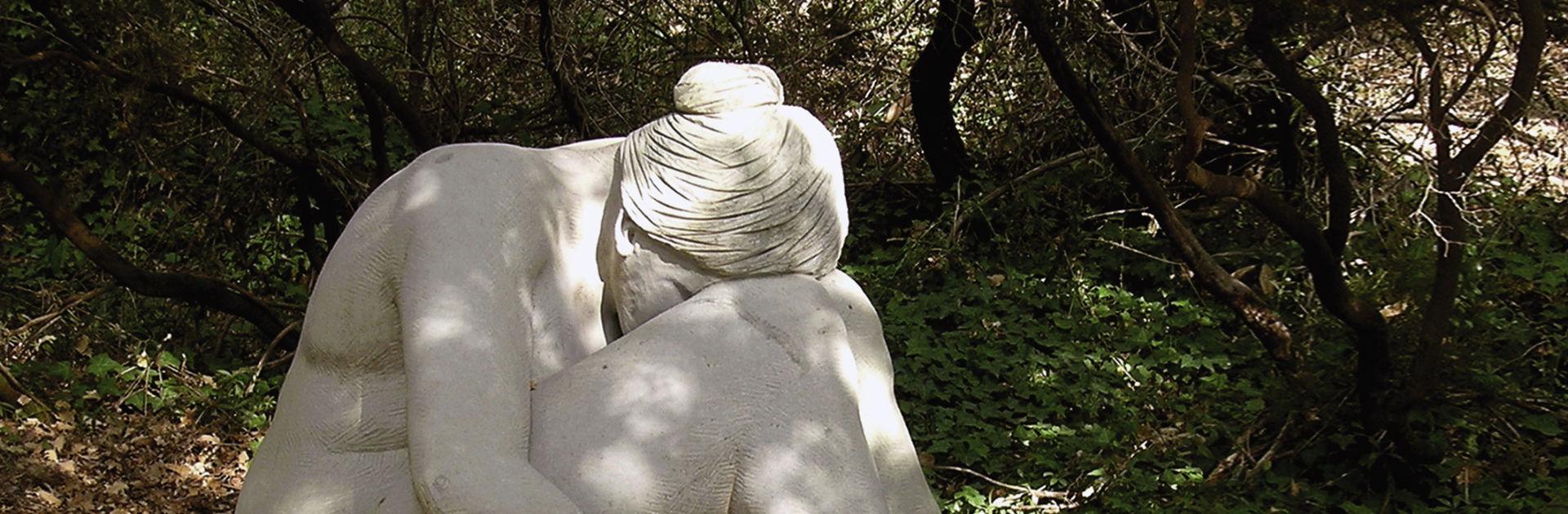 Künstler Roland Topor im Giardino di Daniel Spoerri